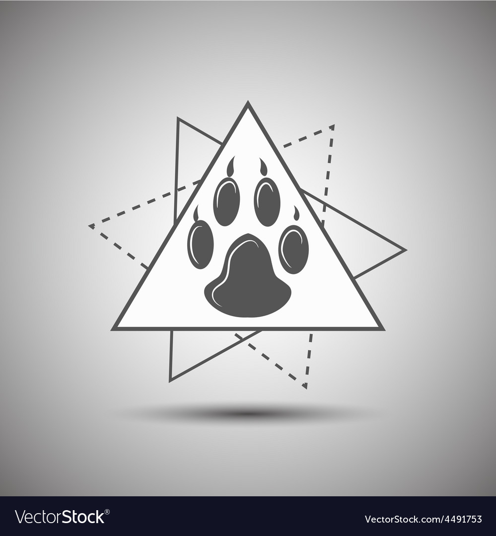 Animal footprint logo isolated on white background vector image