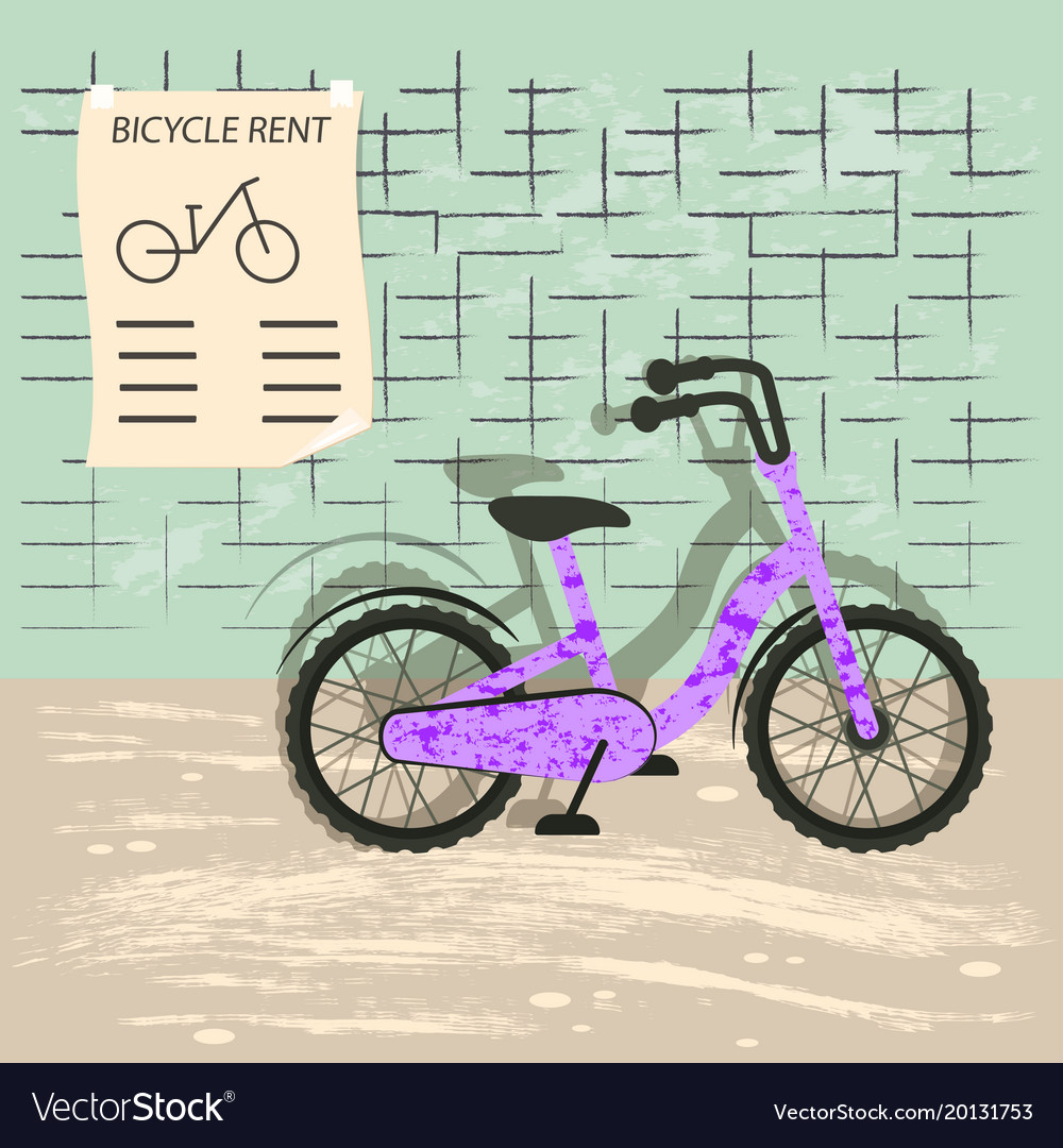 Bicycle rent vector image