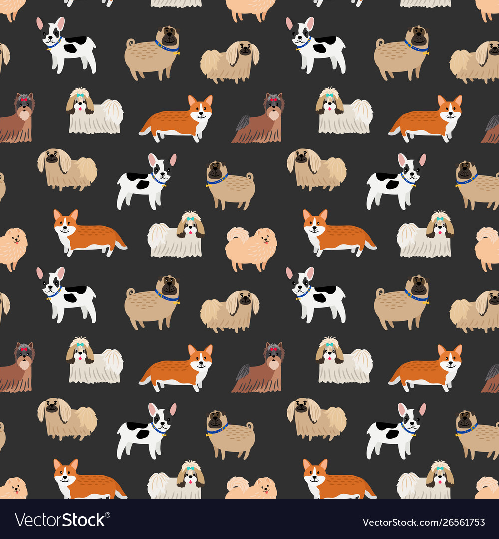 Cute decorative dogs pattern