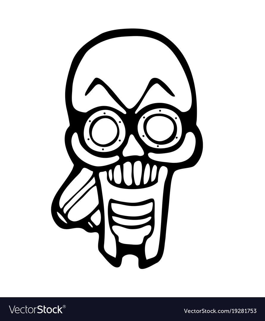 Gas Mask Skull Vector Image