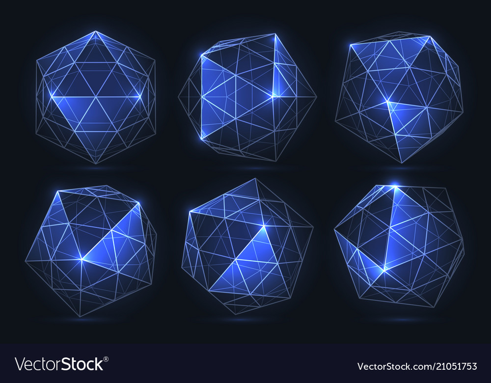 Geometric forms of diamonds polygons of