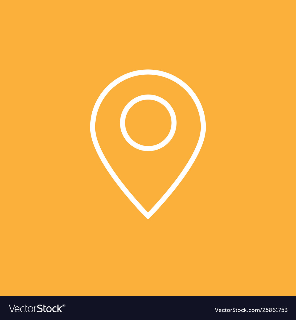 Navigation gps icon thin white line google map Vector Image on