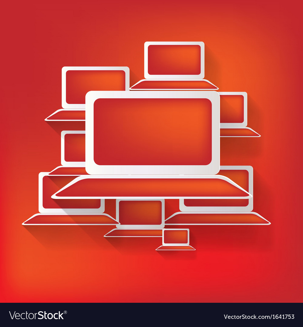 Notebook web iconflat design