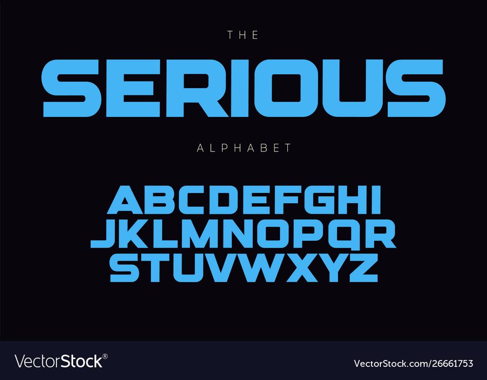 Serious bold alphabet concept for headline logo