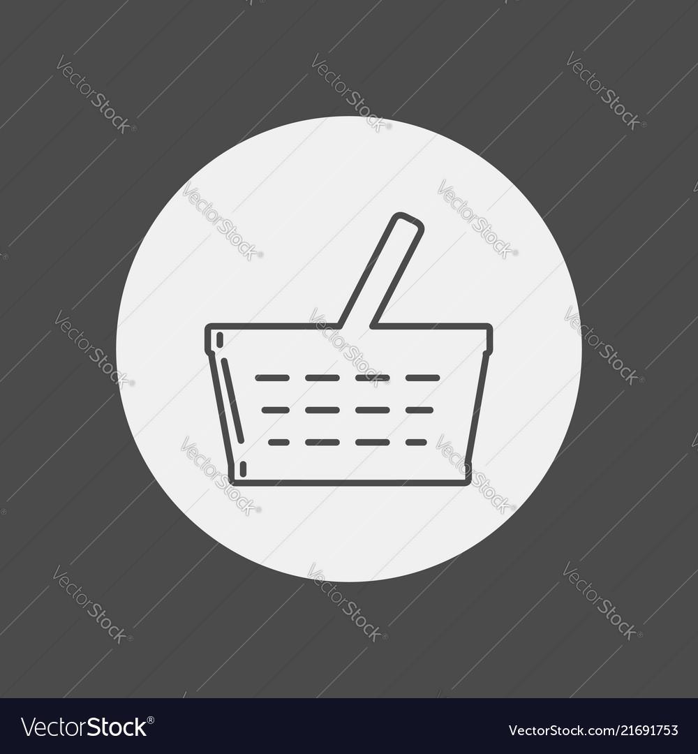 Shopping basket icon sign symbol