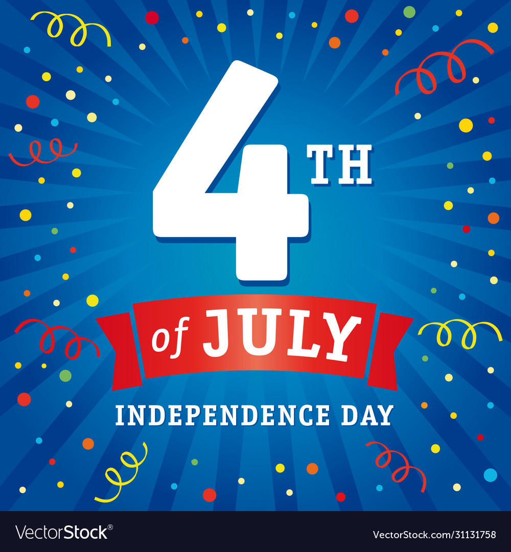 4 july independence day usa card