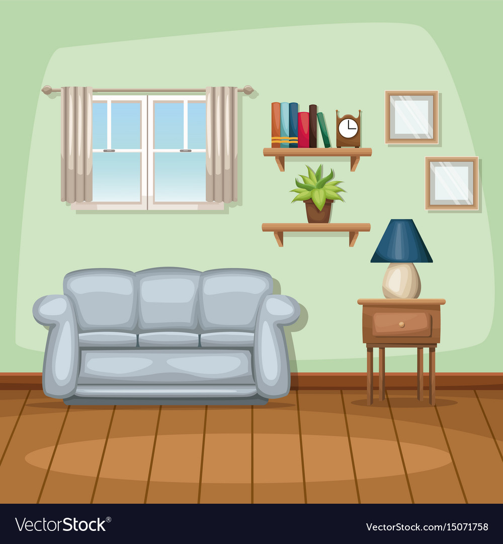 Room Background: Background Living Room Home Scene Royalty Free Vector Image
