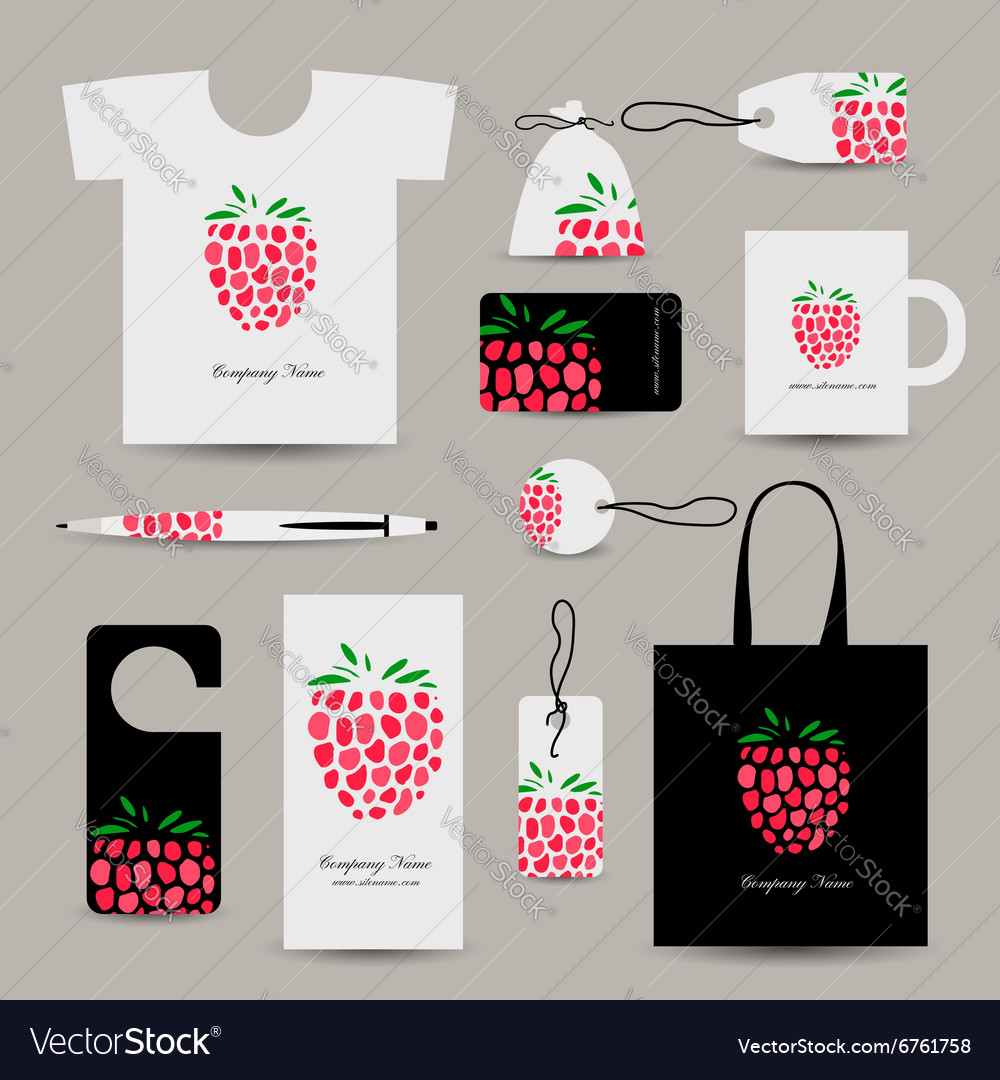Corporate business cards strawberry design vector image