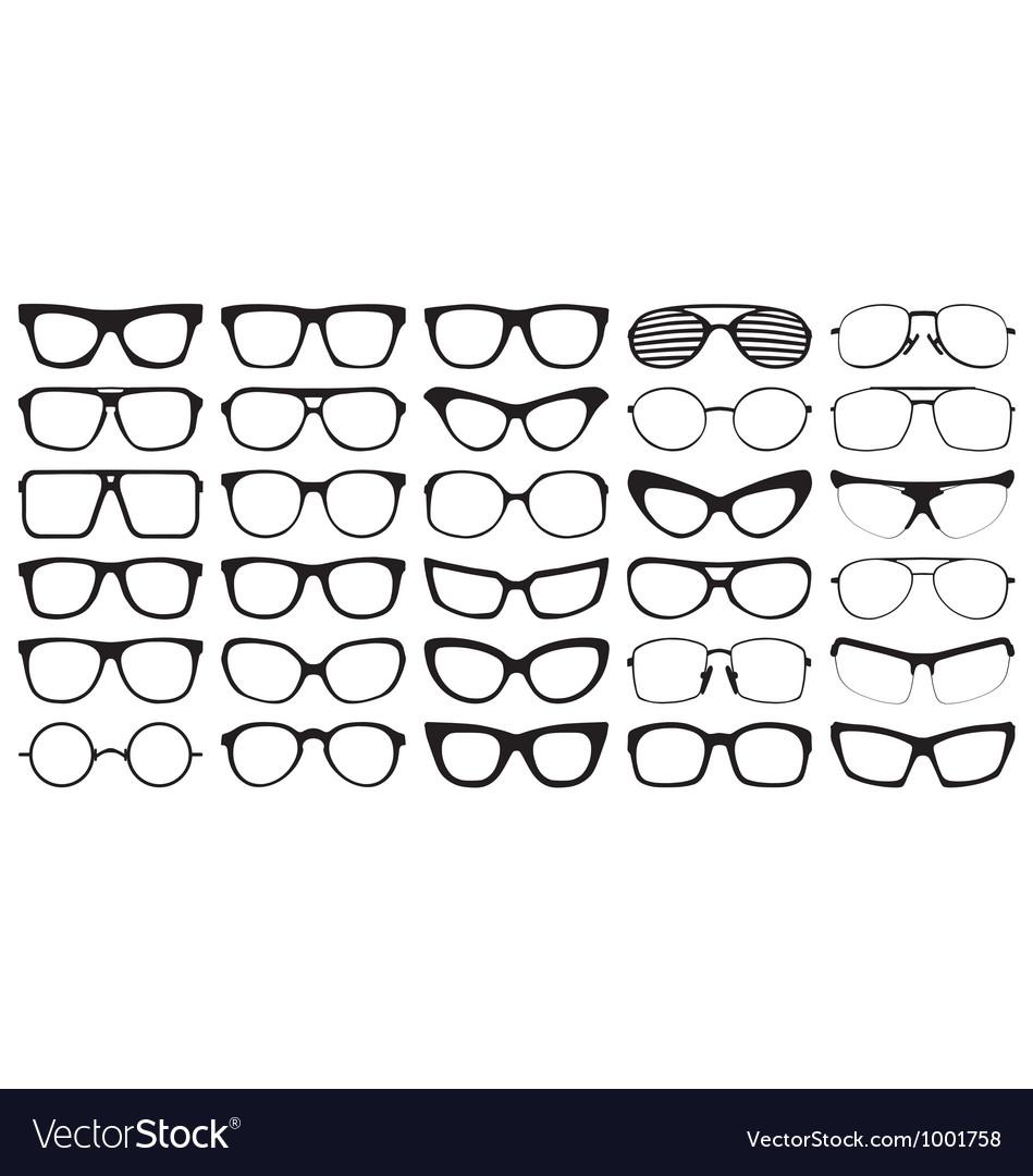 Eye glasses silhouettes
