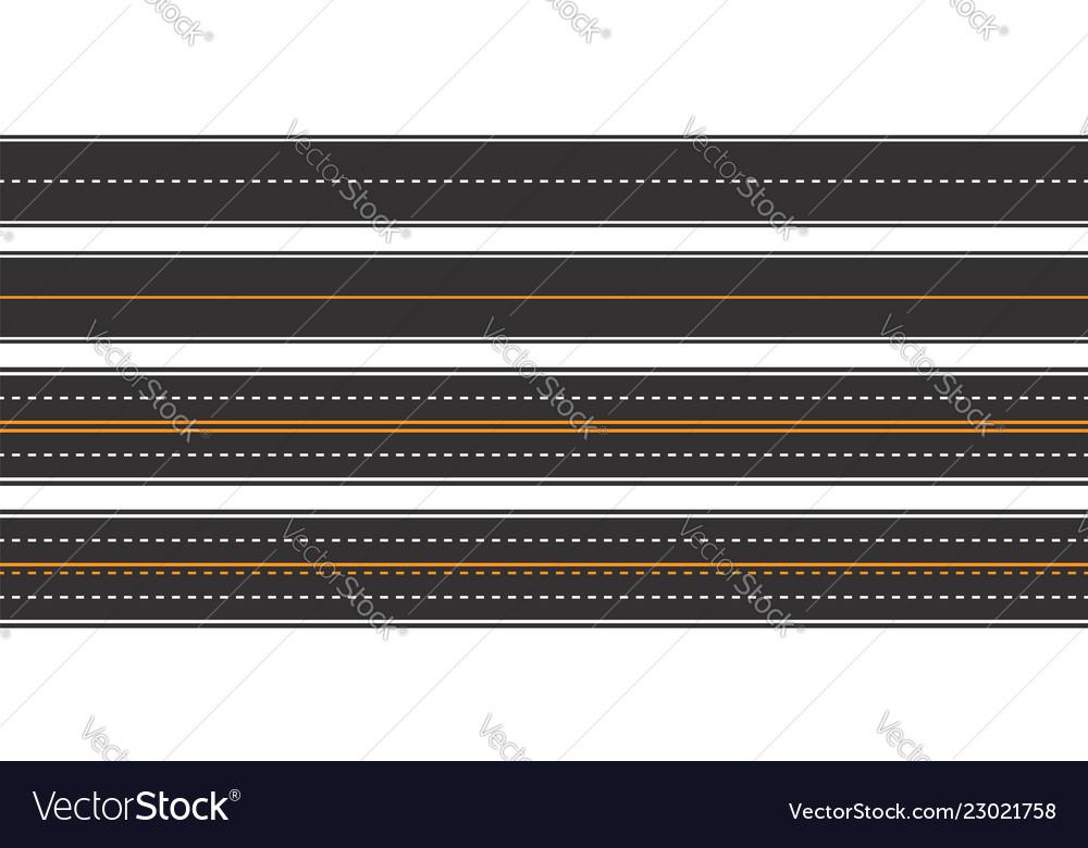 Horizontal asphalt roads seamless pattern
