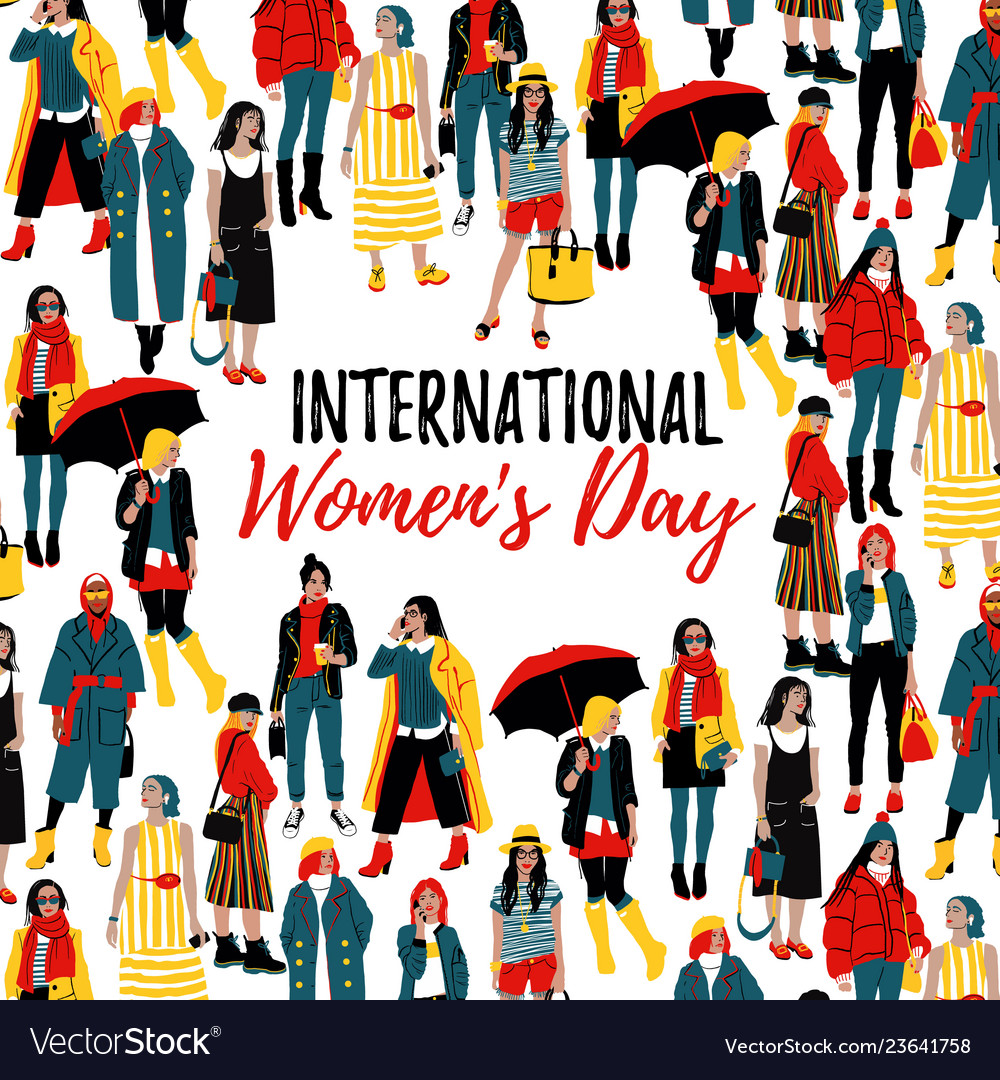 International women s day template for a poster