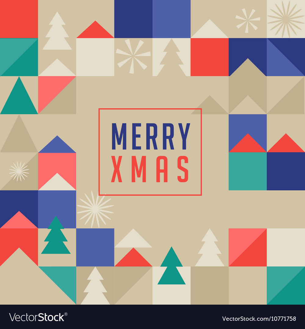 Merry Christmas geometric abstract background