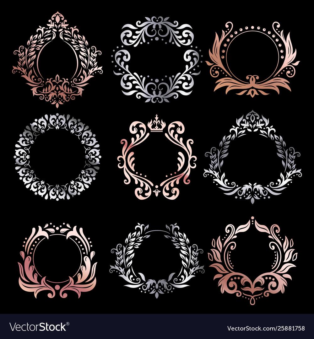 Ornate frames silver ornamental frame rose gold