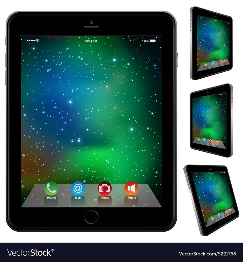 Photo realistic Tablet Similar To iPad style
