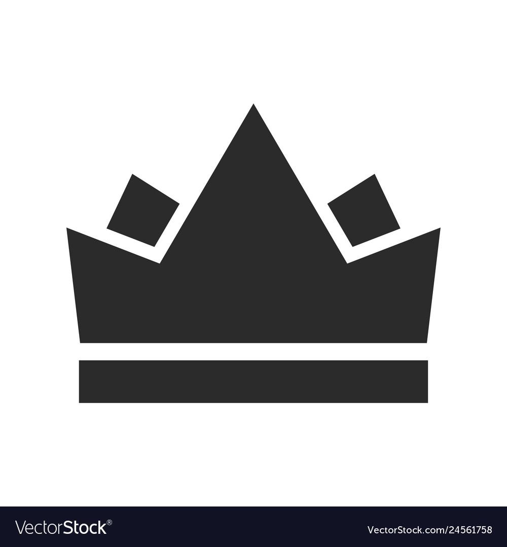 Royal crown black icon emperor and monarch symbol