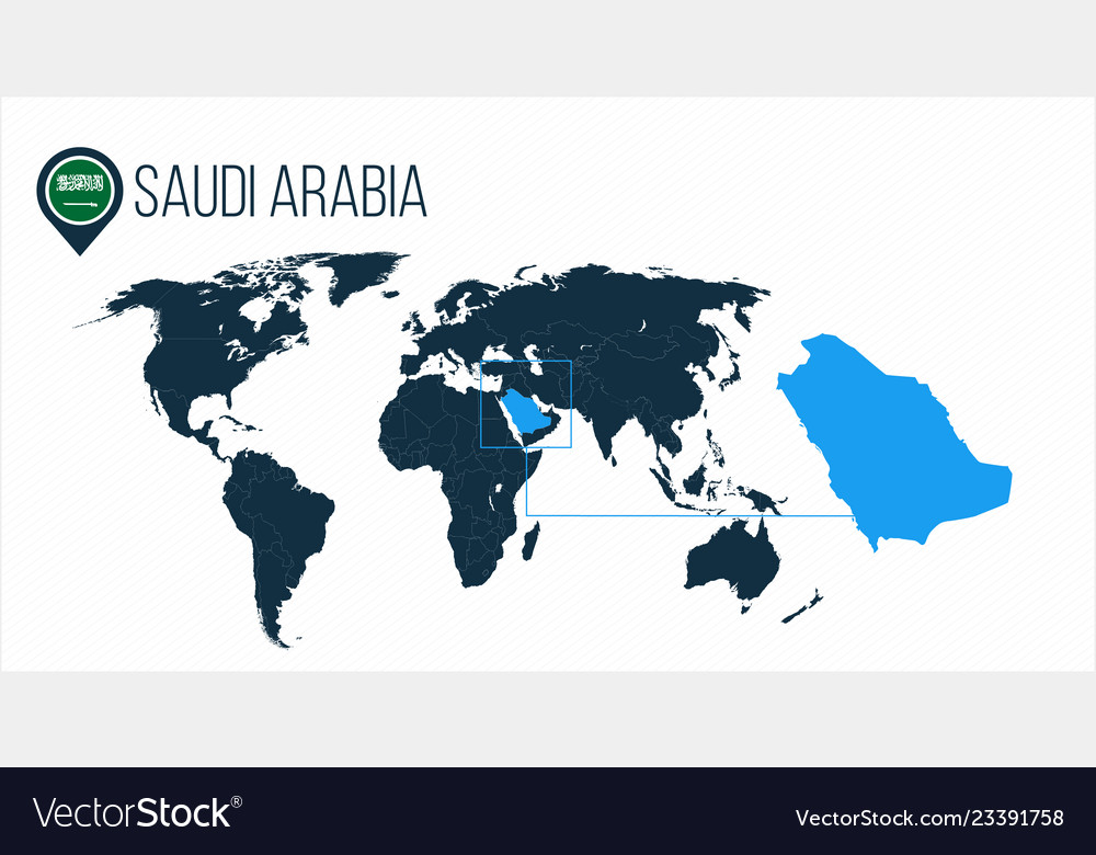 Saudi arabia location on the world map for