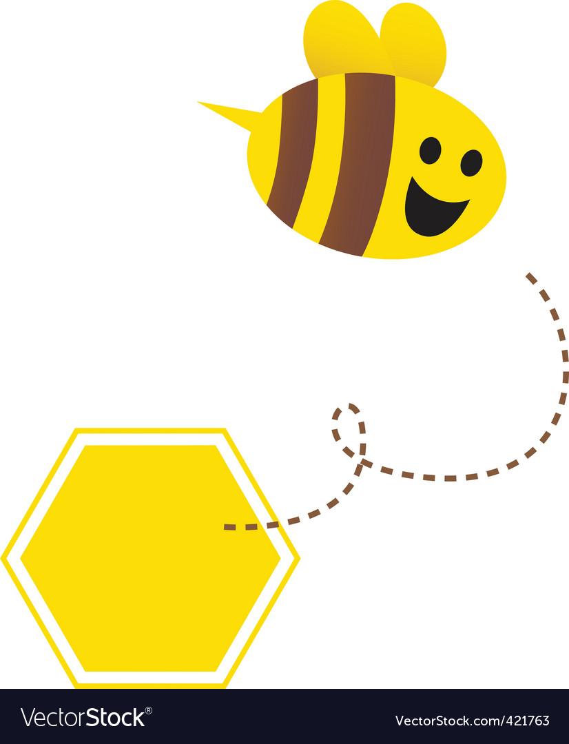 Cartoon honey bee vector image