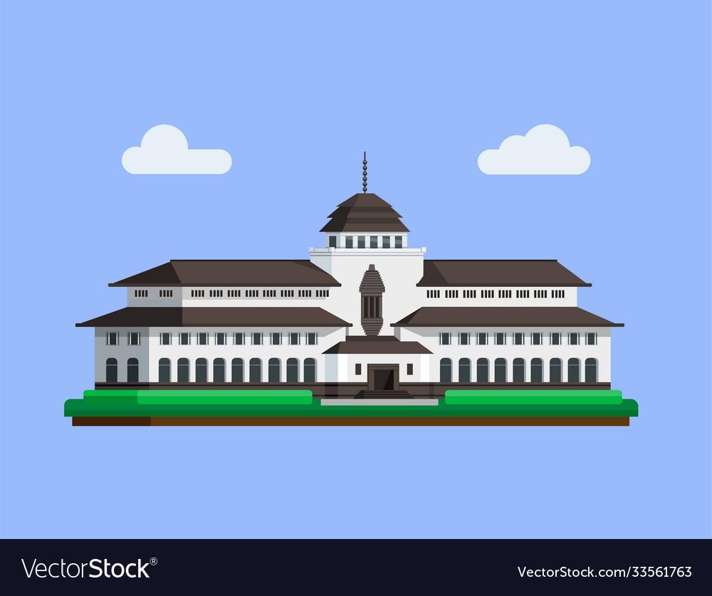Gedung sate is famous building landmark from bandu
