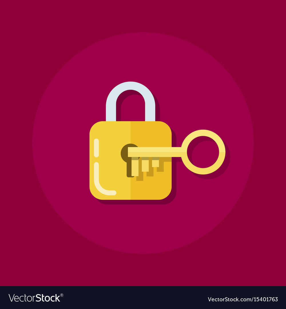 Identity or logon icon padlock with a key in a