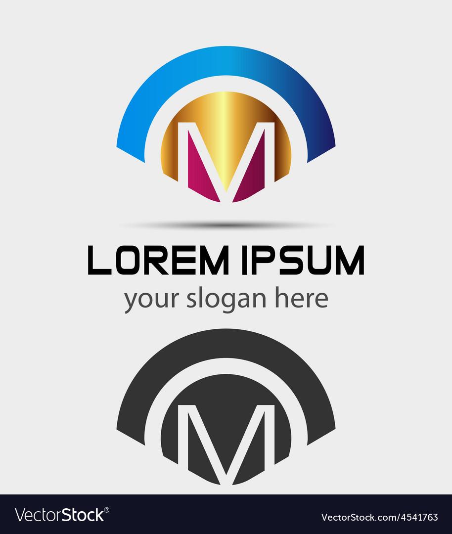 letter m logo design creative symbol of letter m vector image