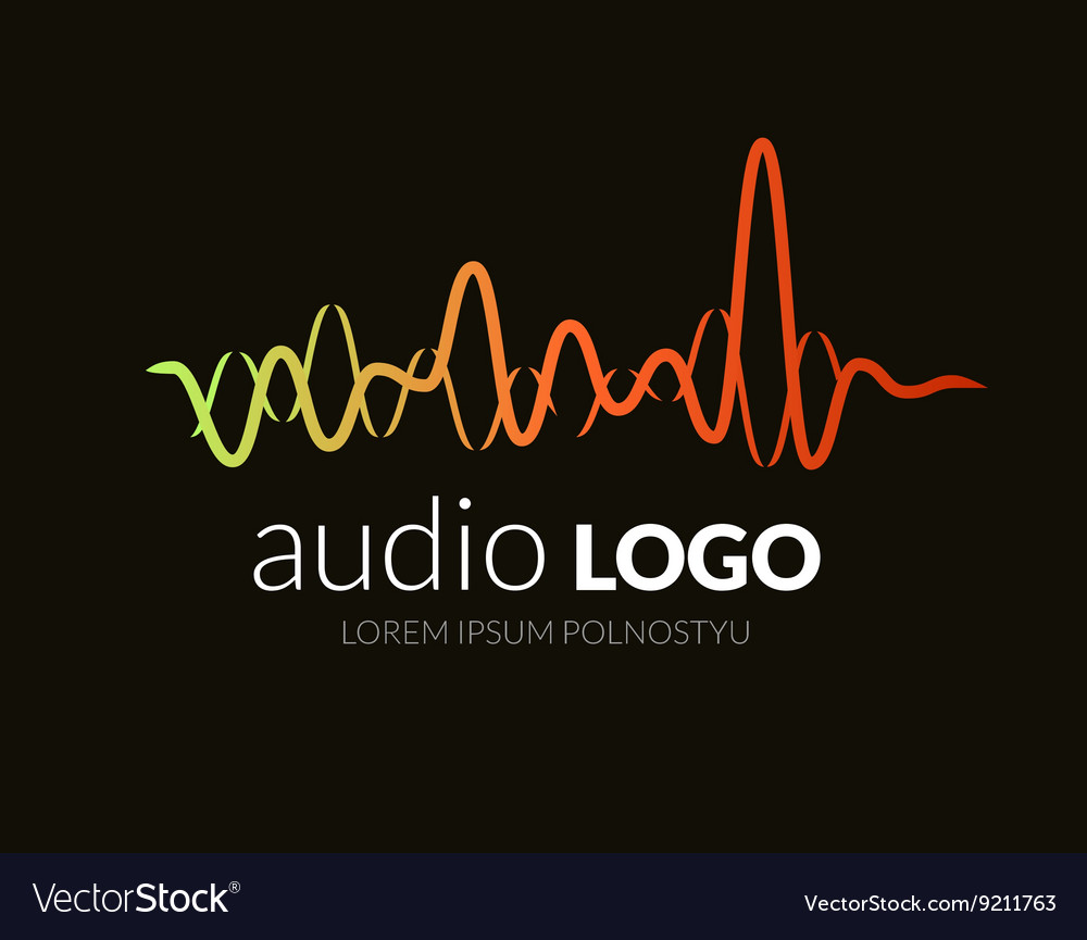 Logo sound wave studio music dj audio system