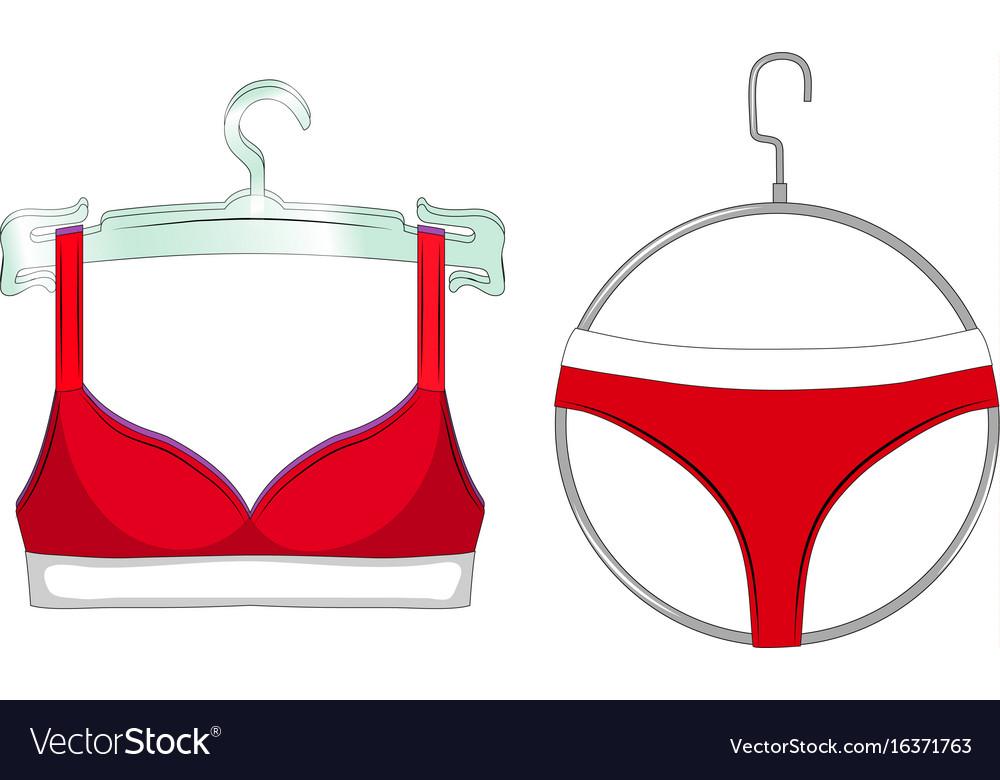 Red Bra Panties