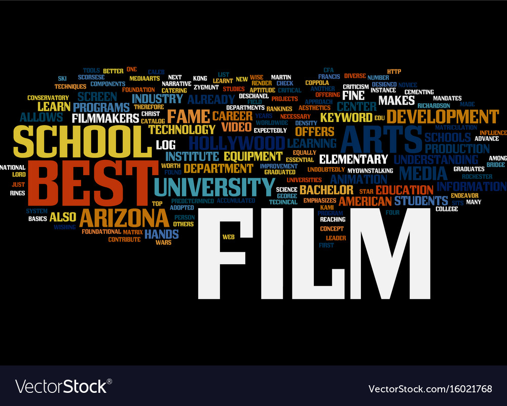 Best film schools text background word cloud