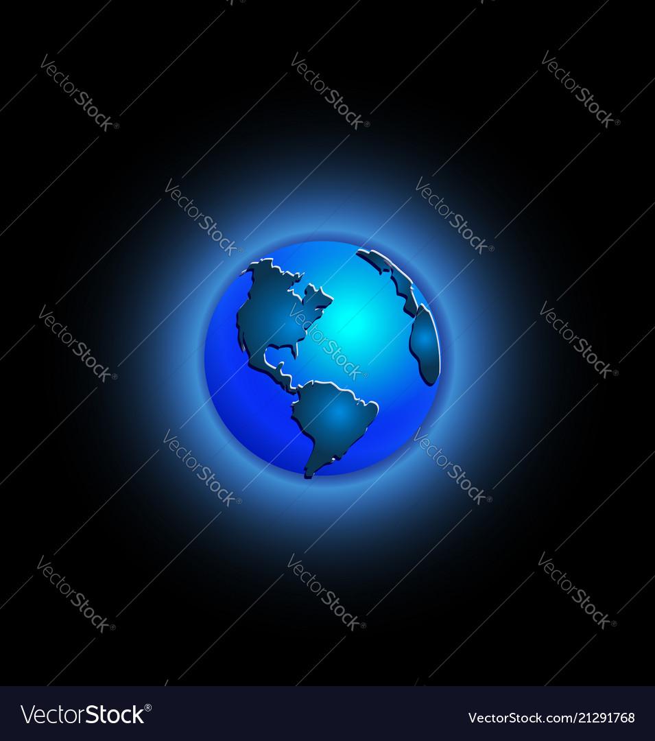 Blue world earth