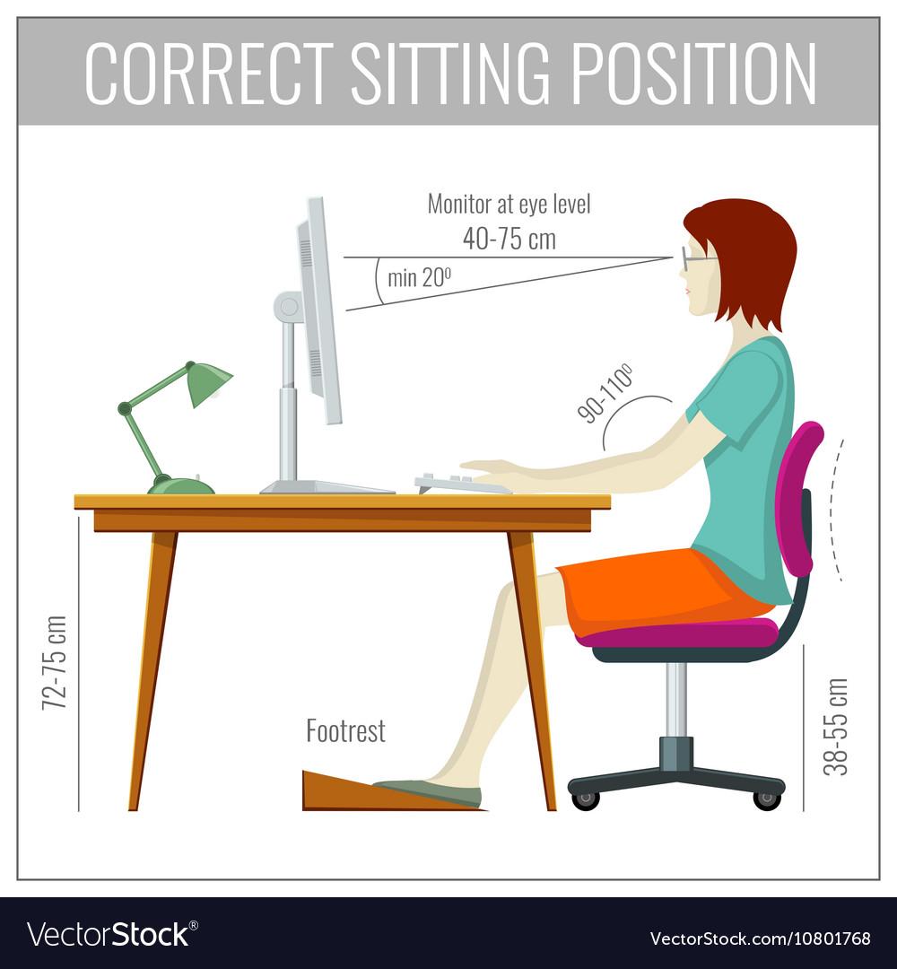Sitting posture computer