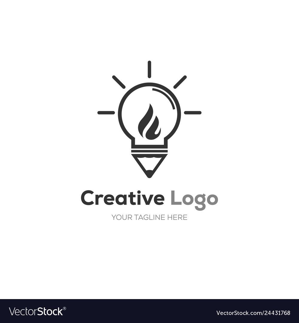Creative bulb logo smart idea logo