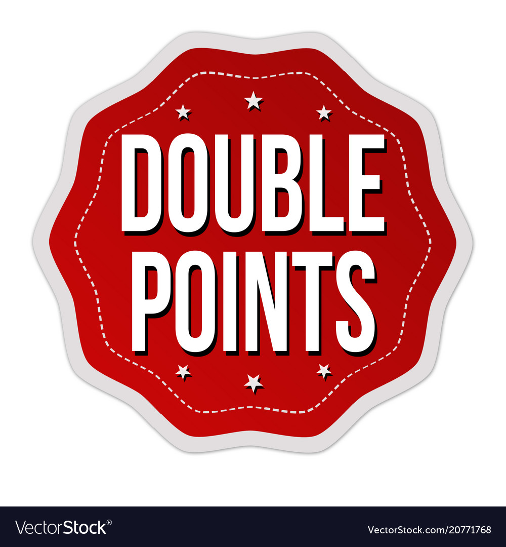 Double points label or sticker