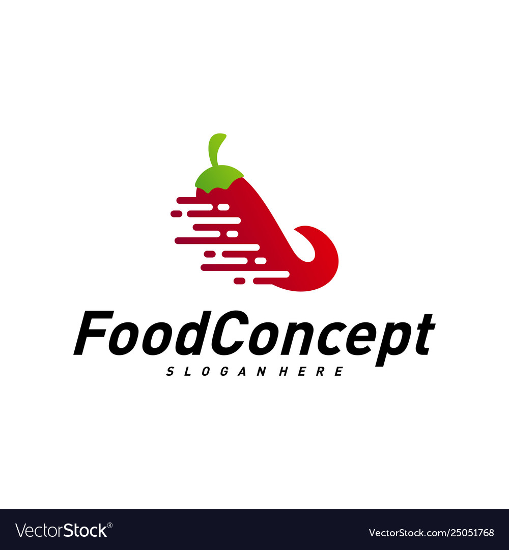 Fast Food Logo Concept Red Chili Logo Design
