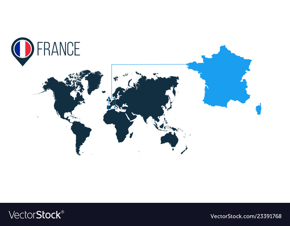 France location modern map for infographics all Vector Image