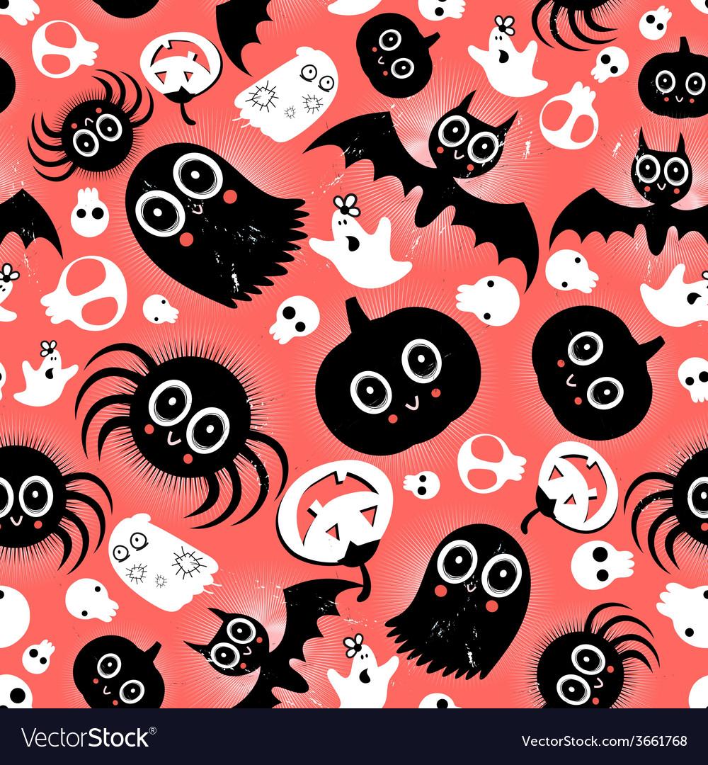 Funny halloween monster pattern