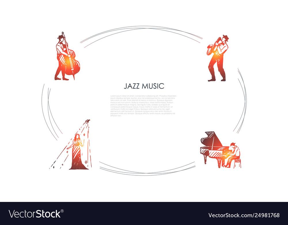 Jazz music - cellist saxophonist