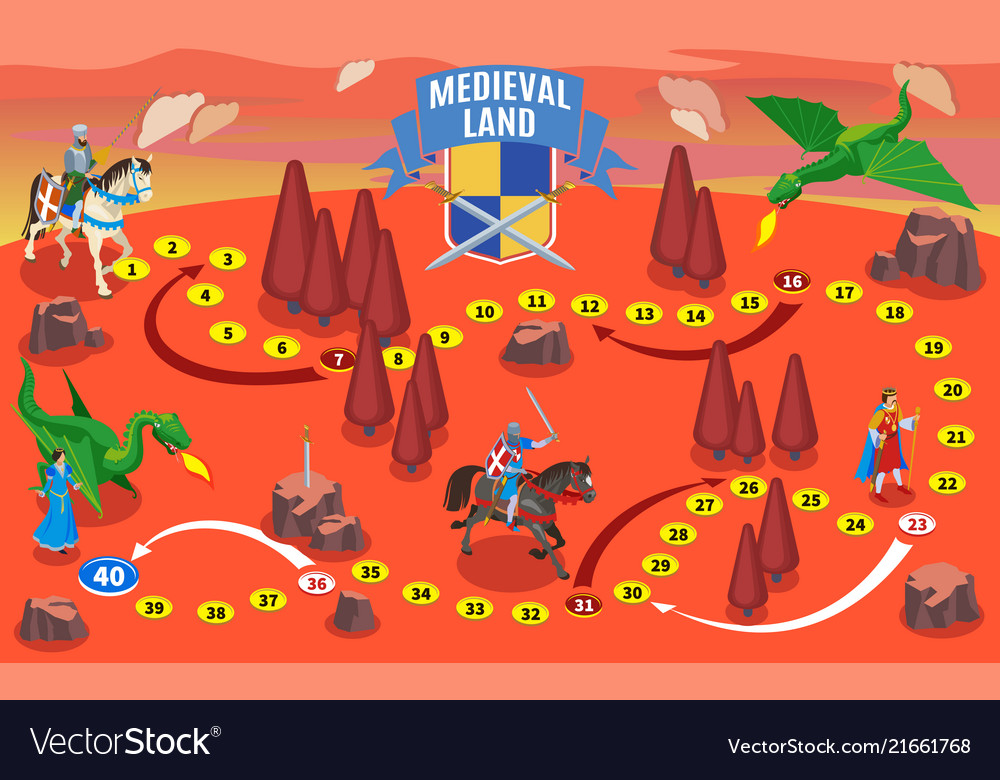 Medieval party game map