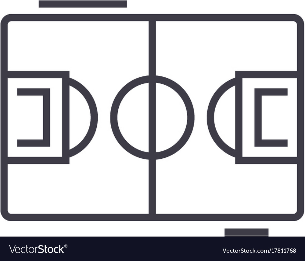 Soccer line icon sign on vector image