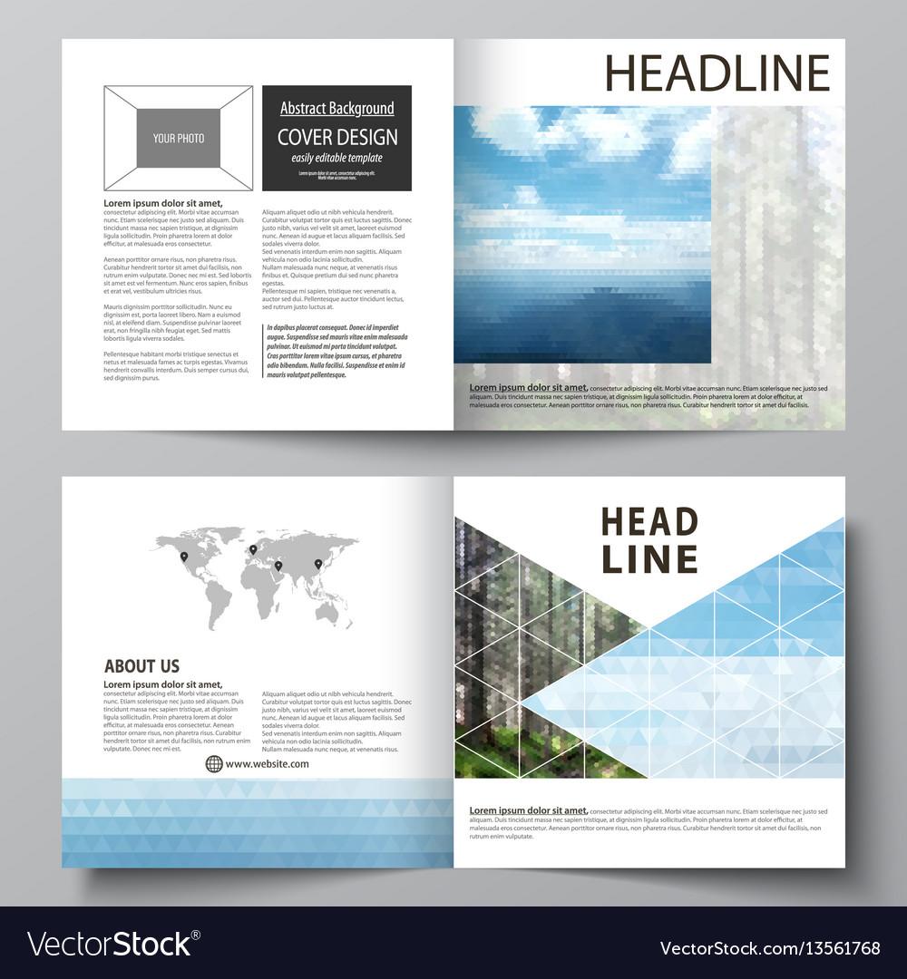Templates for square design bi fold brochure