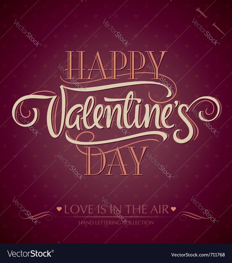 Valentine hand lettering