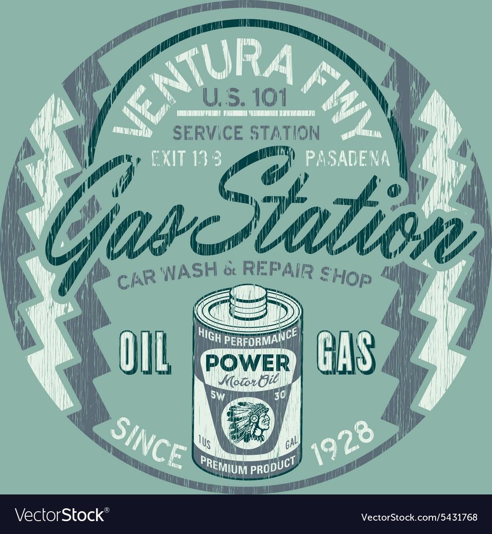 Ventura freeway service station vector image
