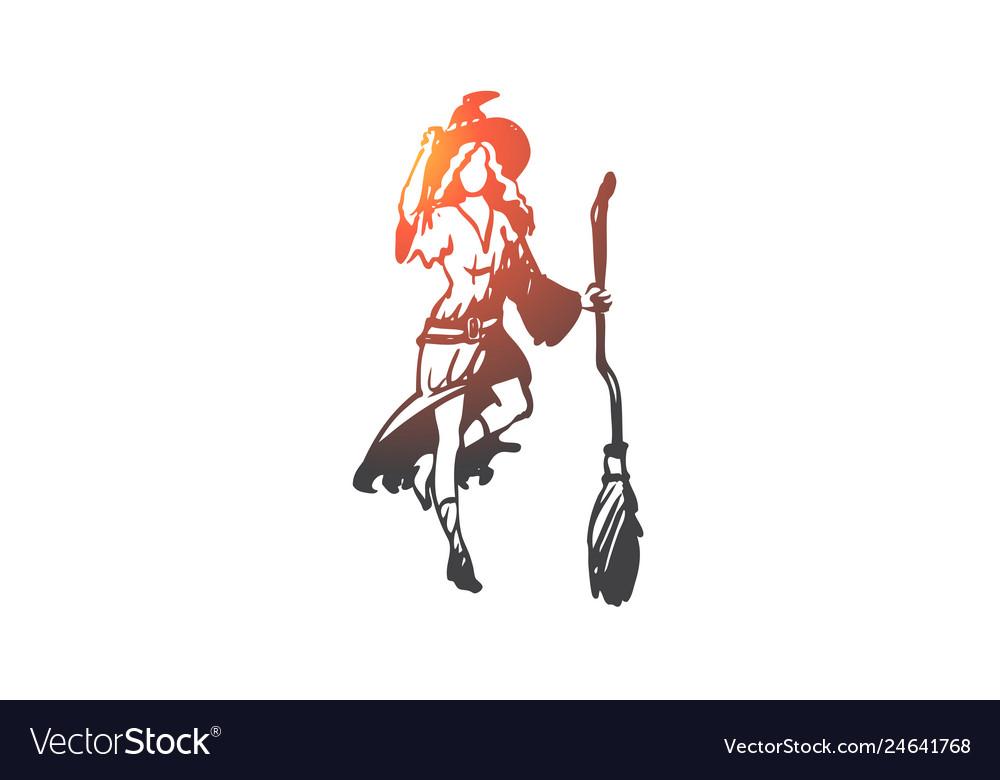 Woman witch costume festive dress