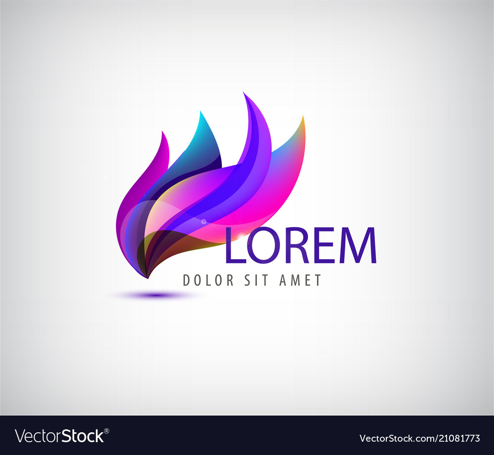 Abstract petals floral wavy logo use for