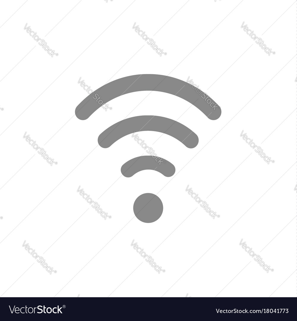 Flat Design Style Of Wifi Symbol Icon On White Vector Image