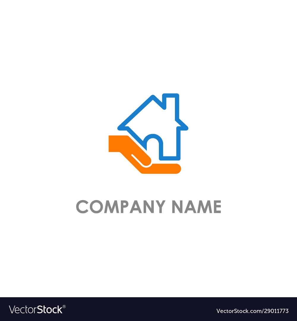 Home care hand business logo