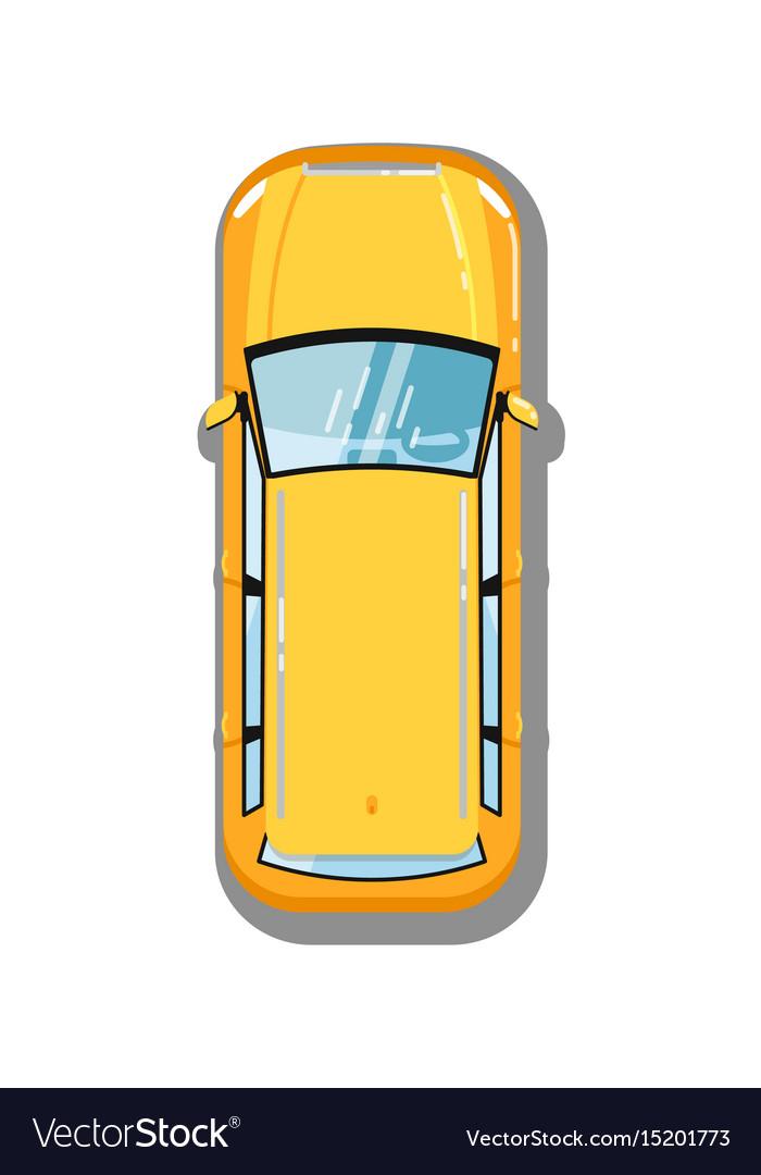 Modern universal car top view icon