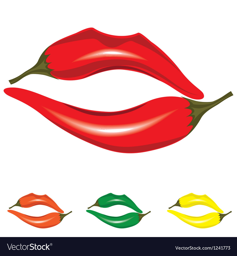 Woman lips as pepper