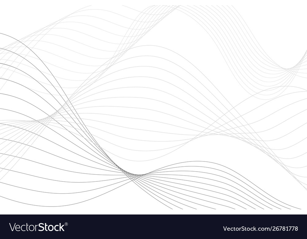 Abstract background with curved lines wavy