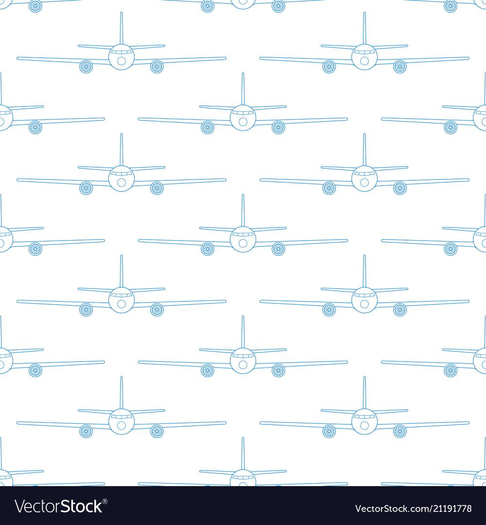 Aeroplane seamless pattern