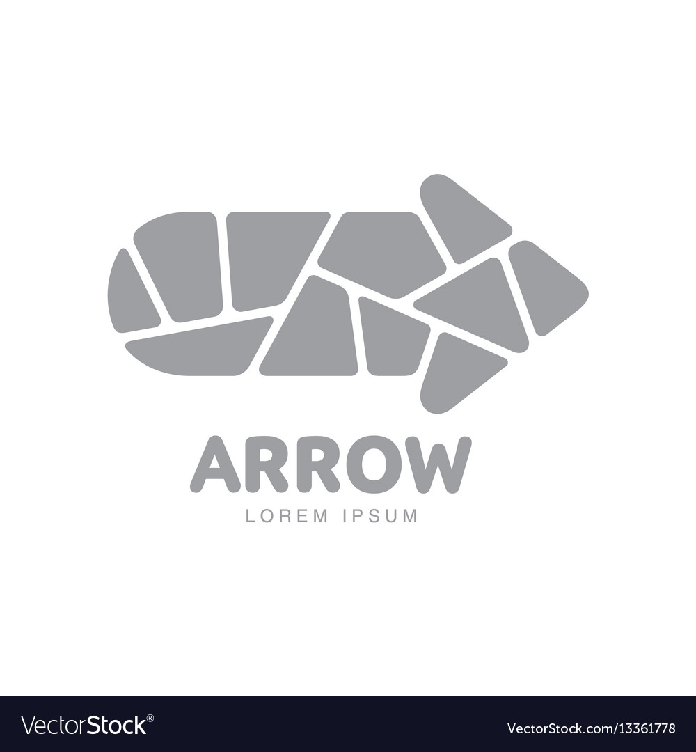 Corporate logo template with arrow formed by vector image