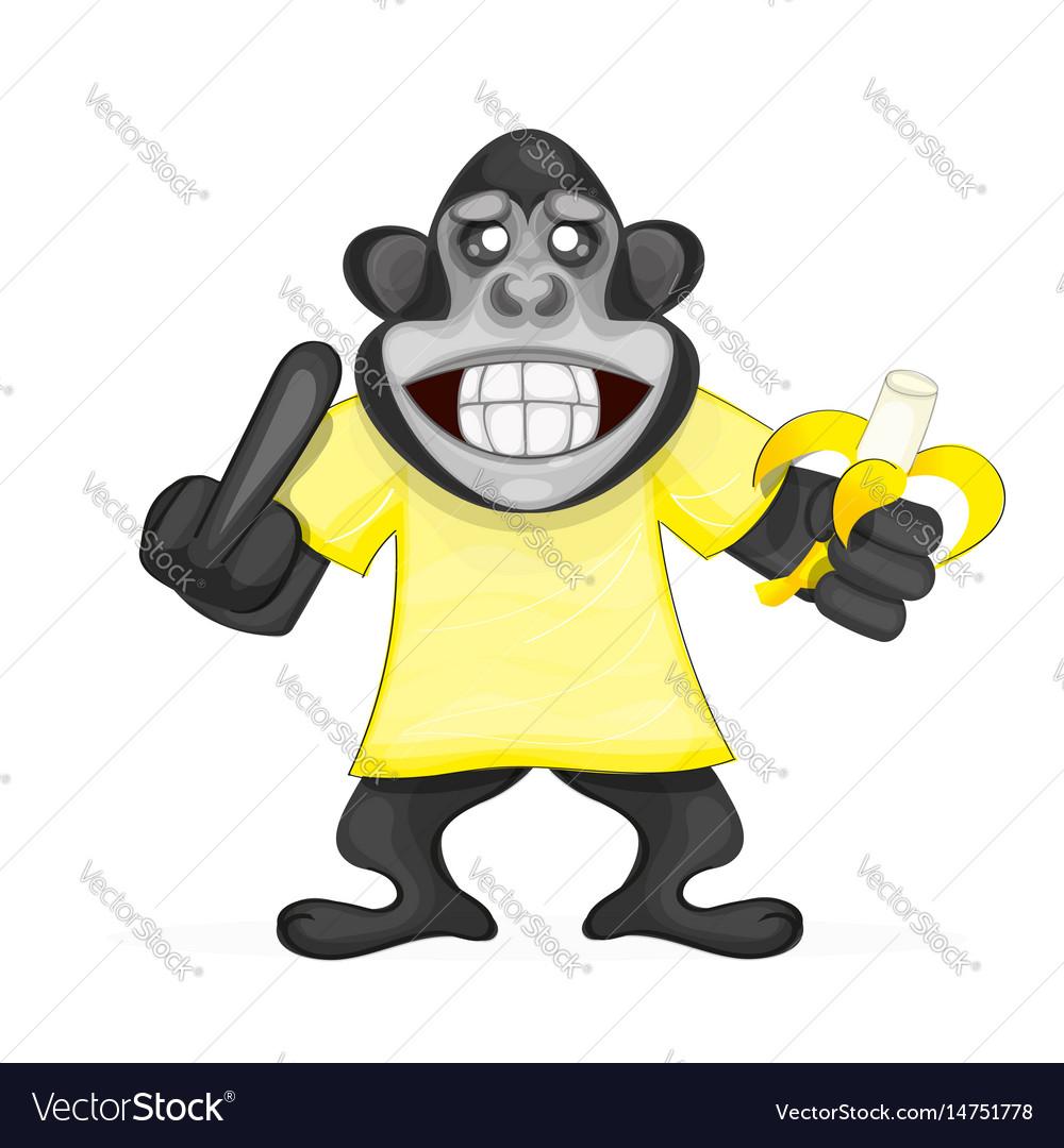Cute monkey icon